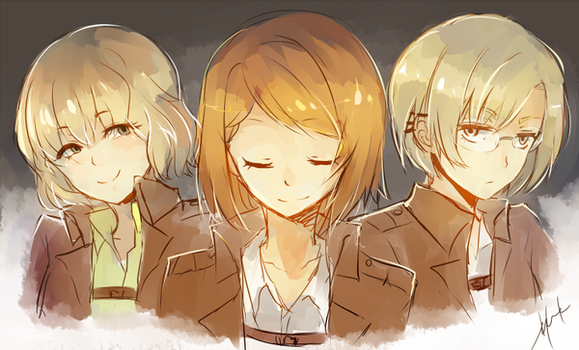 Hitch, Petra, and Rico by h-yde