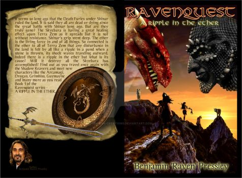Ravenquest: A Ripple in the Ether book cover by mandys-creations