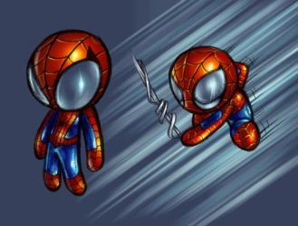 spidey puff boy colored by me by danimation2001