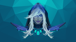 Drow Ranger Dota 2 Low Poly Art by giftmones