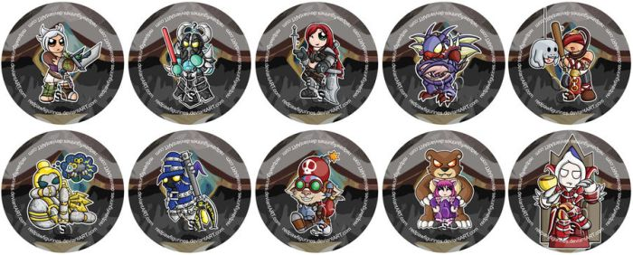 League of Legends Chibi Badges - Part Two by RedPawDesigns