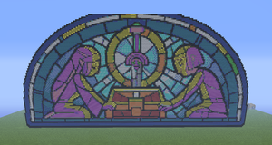 Legend of Zelda Stain Glass minecraft by slygirl1999