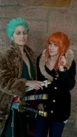Zoro Nami Punk Hazard One Piece Cosplay by Lucy-chan90