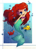 Collab: Ariel the little mermaid by Koizumi6456