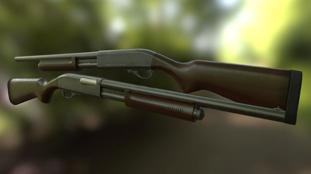 Remington 870 by AndreiPriss