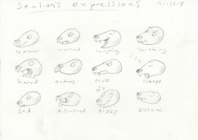 Sealion's Expressions by Louisetheanimator