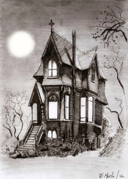 Victorian home in the woods by xavi-M