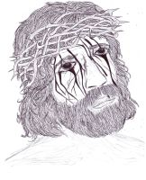 Bleeding Christ by 9Jerimi9Galligory9
