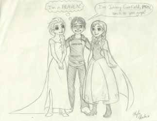 Me with Elsa and Anna (and loving it!) by FromEquestria2LA