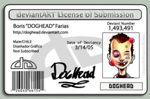 My deviantLICENSE by doghead