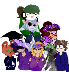 Our world of flower crowns [Collab] by Foziz105
