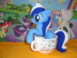 Colgate/Minuette cup-size pony plushie by SunflowerTiger