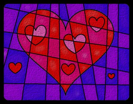 Heart With Lines Cloth by MelianMarionette