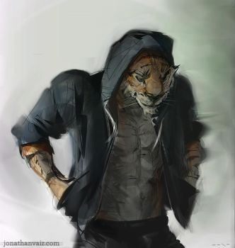 Tiger Boyfriend by jonathanvair