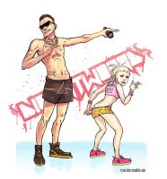 Die Antwoord by cryoclaire