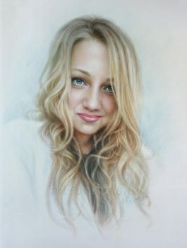 Portrait of the charming girl by Dry Brush by Drawing-Portraits