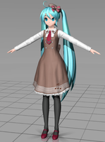 Imitation FT Piano Girl Miku Render by FlyingSpirits-P