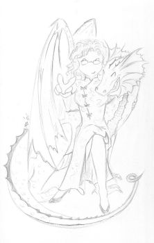 Lady and Her Dragon... by Minamoto