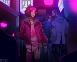 Neon city by Mafer