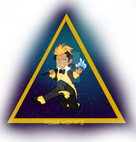 Bill Cipher Chibi ::COMMISSION:: by SugarPhonics