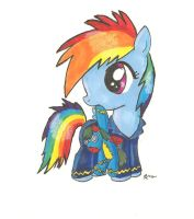 Dash in Pajamas by CatScratchPaper