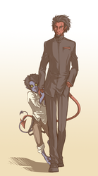 Azazel+Kurt FATHER'S DAY LOL by Spritetacular