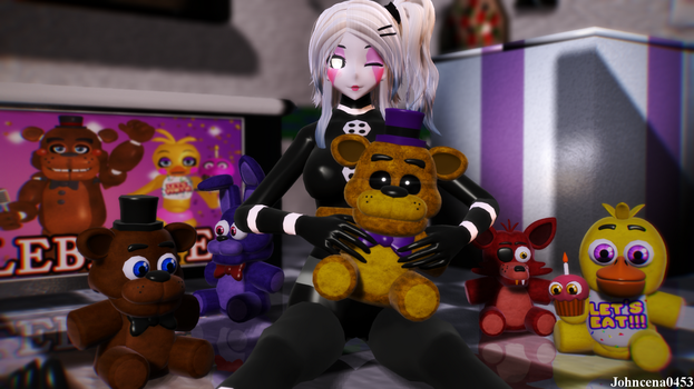 MMD X FNIA The Puppet And The Plushes by JohnCena0453