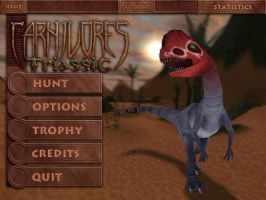 Carnivores Triassic - Main Menu Design by Poharex