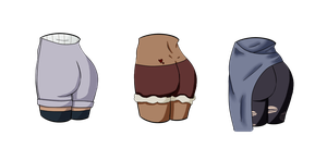 Mystery butts adopt! {CLOSED} by SnarkyAdopts