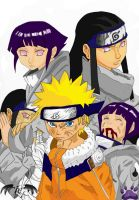 Hinata VS Neji Montage Colour by l3xxybaby