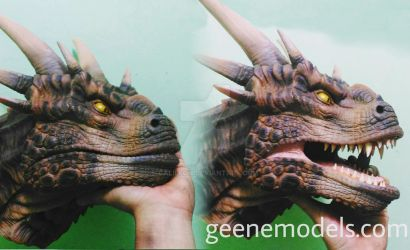 Dragon bust/hand puppet by GalileoN