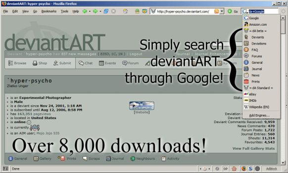 Outdated: DevART + Google Search Plug-in by Zlatty