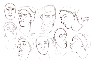 Sketches|Drawing Practice| Silly faces by RomyvdHel-Art