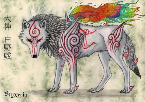 Okami Shiranui Scroll by Styxeria