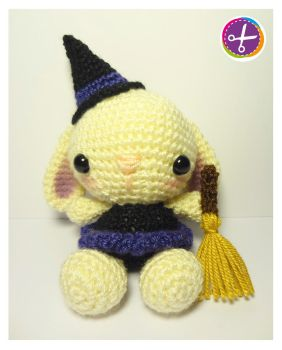 Halloweens Witch Bunny Amigurumi by HinaPalitah