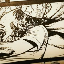 The Cape: Fallen Issue 4 panel crop inks 1f by Spacefriend-KRUNK