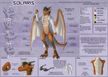 Solaris - Character Sheet Commission by Ulario