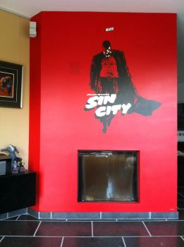 Sin City Marv painting by Stew-Illustrations