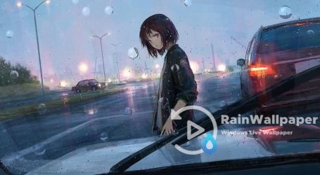 Rainfall Anime Girl by Jimking