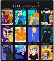 2015 Art Summary by Oceanrush