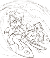 Surf buddies (wip) by Middroo