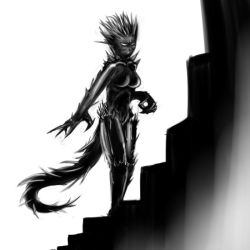 Female barbed devil by Germille