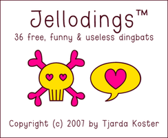 Font: JELLODINGS - free by jelloween