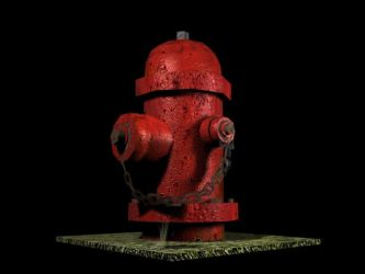 3D - Fire Hydrant Texturing by shanku