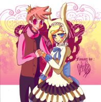 Prince Gumball and Fionna (Valentine's day) by Whitealone