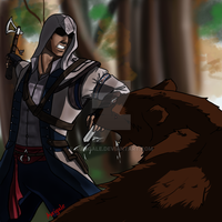 Assassin's Creed Bear-fight by aurigale