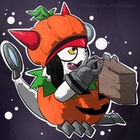 Halloween Gatchmon - Day 1205 by Seracfrost