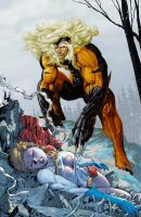 Sabretooth vs Power Girl Final Edit 1 by tintallin