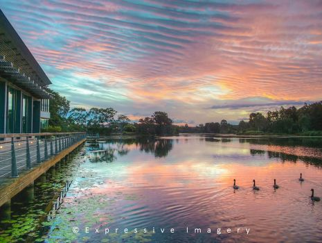 Lake Eden Sunset by ExpressiveImagery