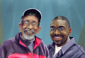 Father-Son Birthday Portrait by E-Nomad